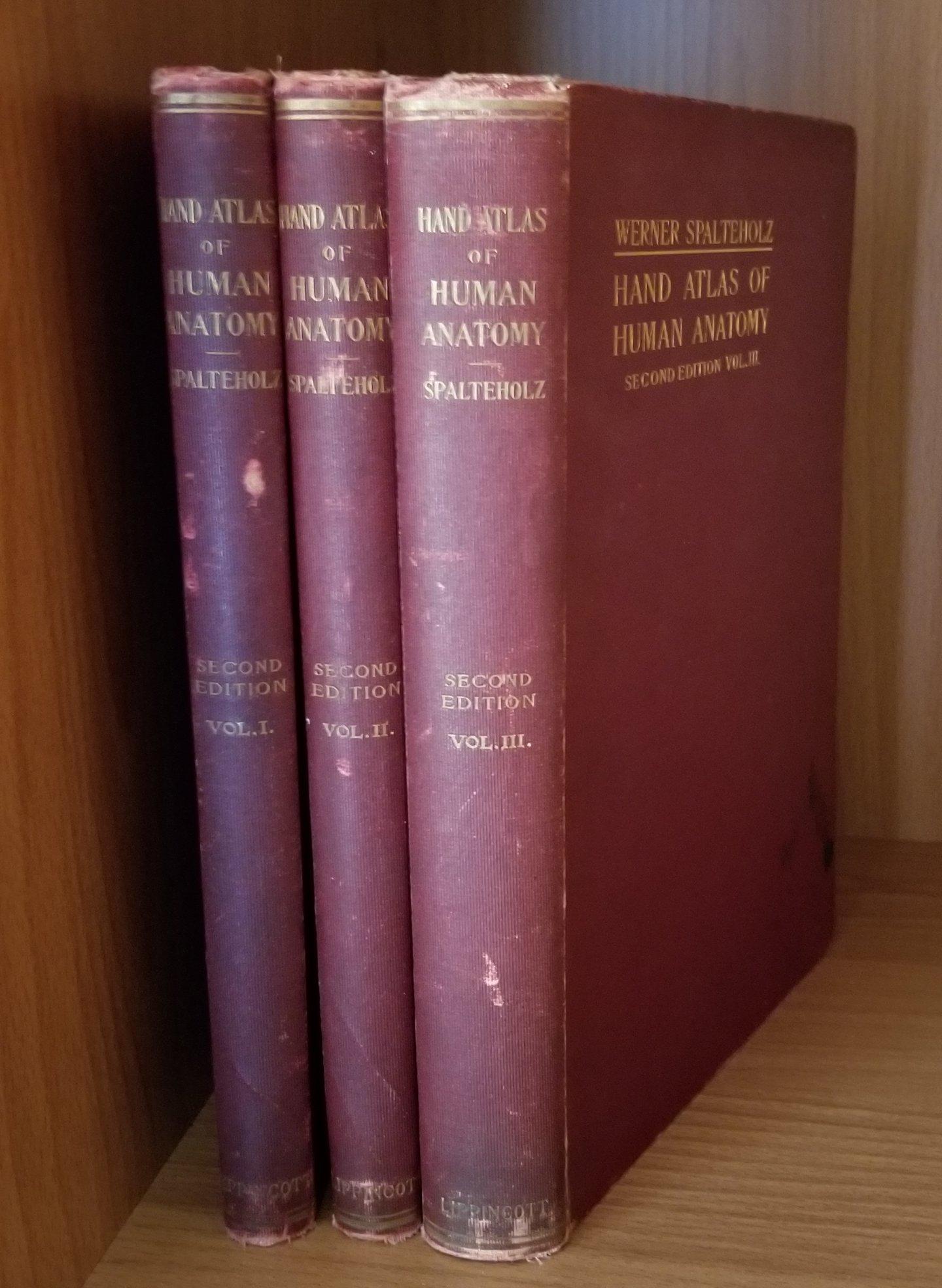 Hand Atlas of Human Anatomy. Vols. I,II,III. Set.